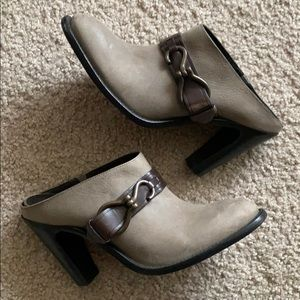Cole Haan Leather Heel Mules